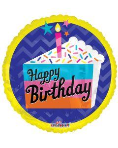 """18"""" Birthday Cake Slice"""