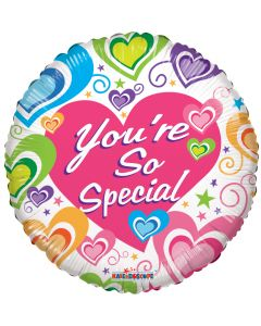 "18"" You're Special Hearts & Swirls"