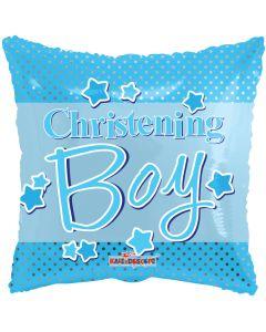 "18"" Christening Blue Dots"