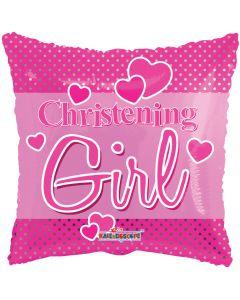 "18"" Christening Pink Dots"
