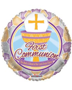 """18"""" Stained Glass Communion"""