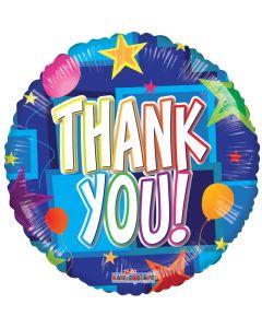 "18"" Thank You Stars & Balloons"