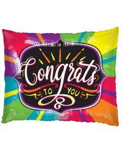 "36"" Rainbow Congrats To You"