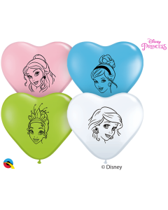 "6"" Disney Princess Faces Heart Assort 100ct"
