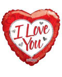 """36"""" Silver Hearts Love"""