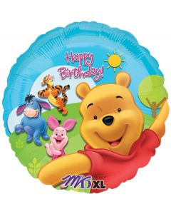 """18""""Pooh & Friends Sunny Happy B'day"""