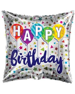 "18"" B'day Balloons & Stars"