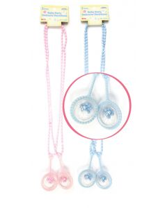"30"" Baby Rattle Necklace Pink 2ct"
