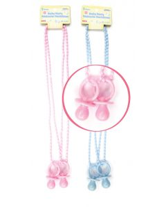 "32"" Baby Pacifier Necklace Pink 2ct"