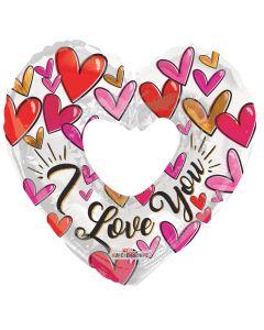 "36"" Trendy Hearts Love"