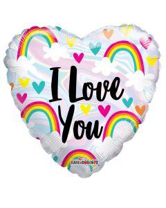 "18"" Love Hearts & Rainbows"