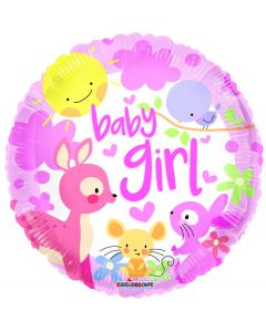 "9"" Baby Girl Forest Friends inflated with cup"
