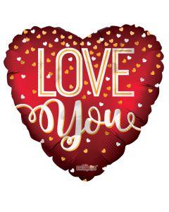 """9"""" Love Confetti Hearts"""