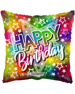 "18"" Birthday Multicolor Stars"