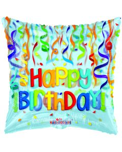 """18"""" Colorful B'day Streamers"""