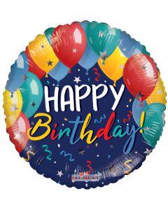 "18"" Festive Balloons Birthday"