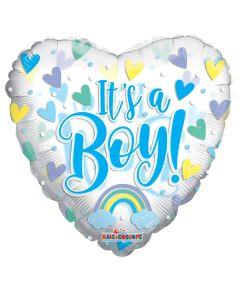 "18"" Baby Boy Blue Hearts"