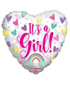 "18"" Baby Girl Pink Hearts"