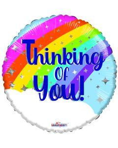 """18"""" Rainbow Thinking Of You"""