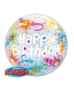 """22"""" B'day Candles & Confetti Bubble"""
