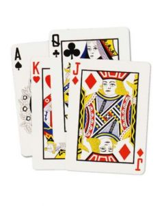 Plastic Coated Playing Cards 6.5 x 4.75