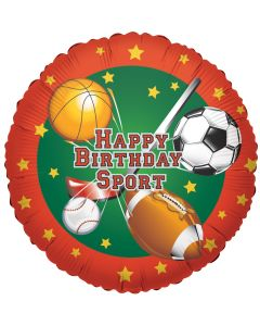 """9"""" All Sports B'day Inflated with Cup & Stick"""
