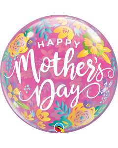 """22"""" Mother's Day Colorful Floral Bubble"""