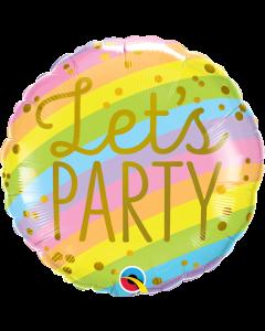 """18""""Pastel Party Stripes  Pkg"""