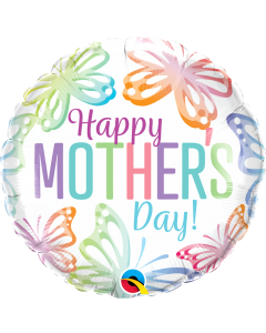 "18"" Mother's Day Pastel Butterflies Pkg"