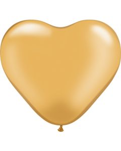 "6"" Gold Hearts 100ct"