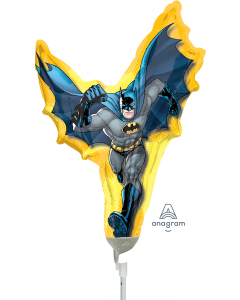 "14"" Batman Shape Inflated with Cup & Stick"