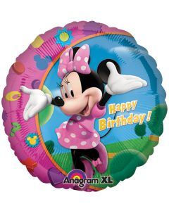"""18"""" Minnie Happy B'day Pkg"""