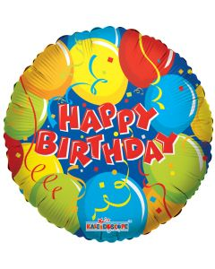 "18"" B'day Balloons & Confetti"