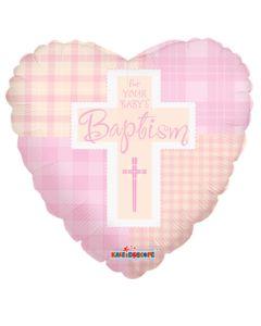 "9"" Girl Baptism Quilt"