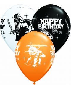 "11"" Star Wars Happy B'day Assort 25ct"