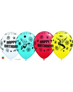 "11"" Spiderman Birthday 25ct"