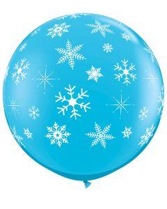 3' Snowflakes & Sparkles Ard Blue 1ct