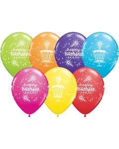"11"" Birthday Cake & Candles Assort 50ct"