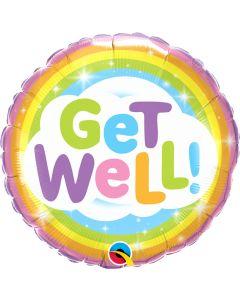 "18"" Rainbow & Stars Get Well Pkg"