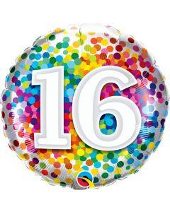 "18"" Rainbow Confetti 16"