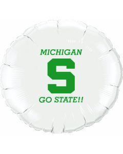 """18"""" MSU Go State White"""