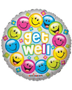 """18"""" Colorful Smiles Get Well"""