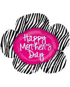 "14"" Mom's Day Zebra Flower"
