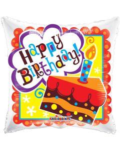 "18"" Happy B'day Cake Gellibean"