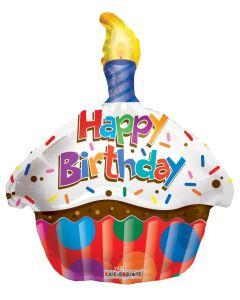 """18"""" B'day Cupcake w/ Candle"""
