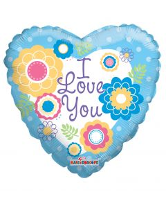"""9"""" I Love You Flowers Inflated with Cup & Stick"""