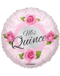 """18"""" Mis Quince Roses Pink"""