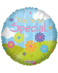 "9"" You're So Special Flowers Inflated with Cup & Stick"