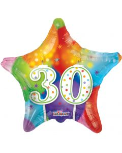 "18"" 30th Candles & Balloons--"
