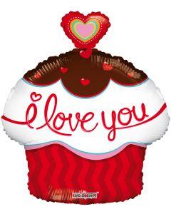 """18"""" I Love You Cupcake"""